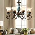Керамическая гостиная светодиодные люстры столовая лампа для спальни лампа для учебы простой европейский ретро освещение Роскошная совре...