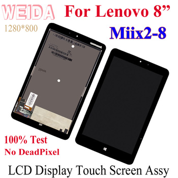 цена на WEIDA LCD Display Replacement Parts 8 For Lenovo Miix2-8 Miix2 8 Tablet PC LCD Display Touch Screen Digitizer Assembly MIIX 2 8