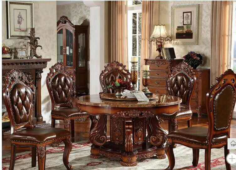 Us 2480 0 Modern Style Marble Italian Dining Table 100 Solid Wood Italy Luxury Round Set D1426 In Room Sets From