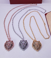 Famous brand Jewelry Panther Necklace enamel leopard tiger head pendant panthere choker for women men party jewelry