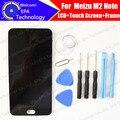 """100% testado LCD screen display com Digitador Touch com quadro Para 5.5 """"meizu m2 note meilan note2 meilan note 2, frete grátis"""