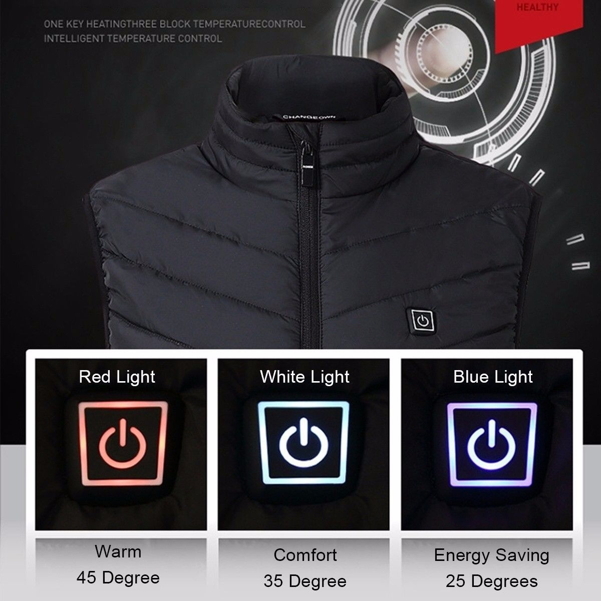 2019 New Women Man Winter Vest USB Electric Heated Vest Thermal Waistcost Sleeveless Vest Jacket Clothing For Outdoor Workout