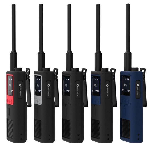 Chống Trượt Silicone Vỏ Ốp Lưng Bảo Vệ Tay Da cho Xiaomi MiJia Smart Bộ Đàm 2 Đài Phát Thanh Interphone Phụ Kiện