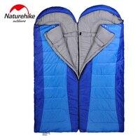 Naturehike 3 Season Envelope Sleeping Bags Outdoor Camping Splicing Single Adult Cotton Sleeping Bag 5 Degree