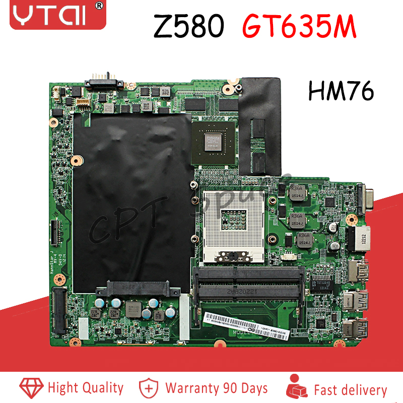 DALZ3AMB8E0 Z580 for Lenovo IdeaPad Z580 Laptop Motherboard HM76 GT630 635M DALZ3AMB8E0 mainboard Tested 100 tested