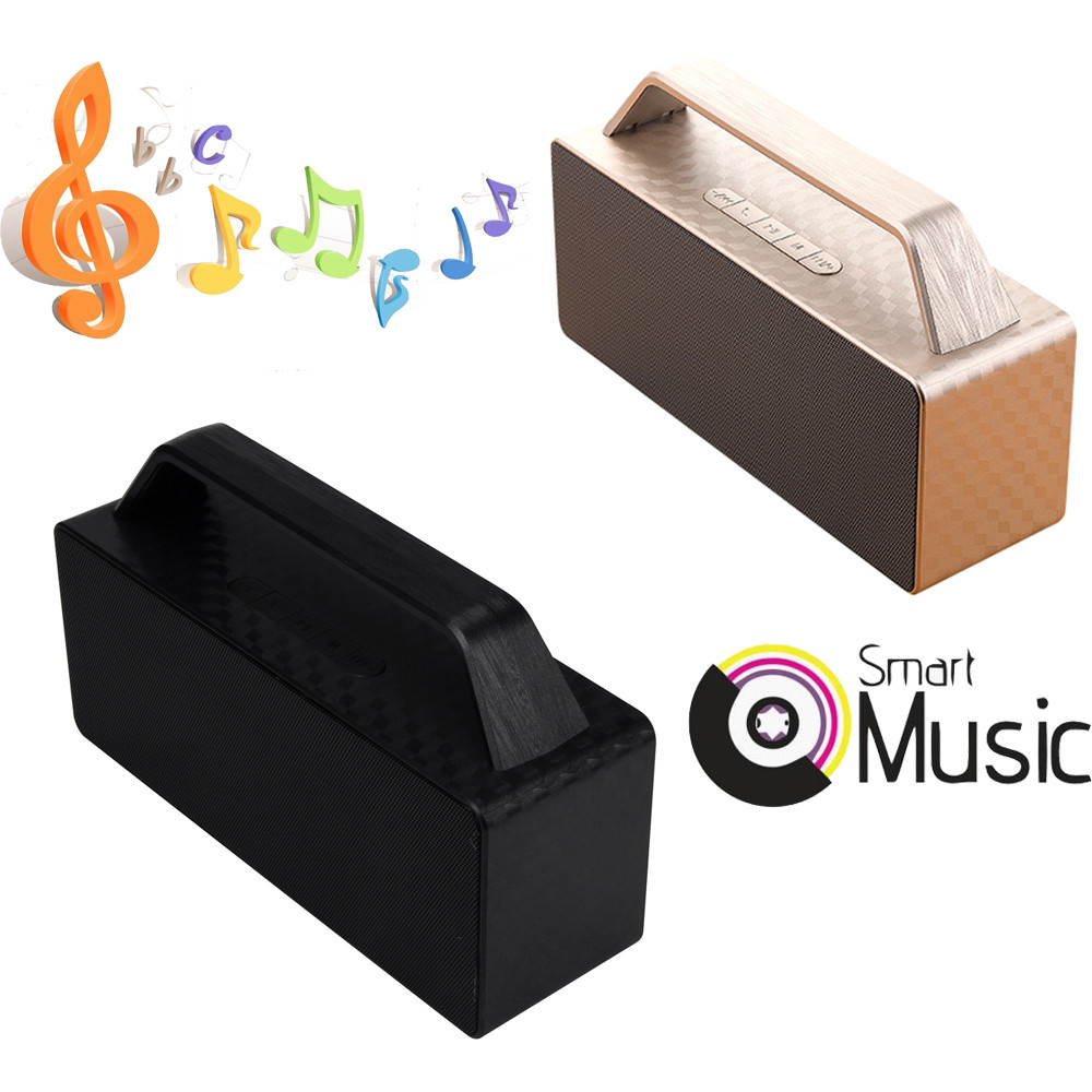 CARPRIE AUX Portable Wireless Super Bass Stereo Bluetooth Speaker Soundbar Portable Bluetooth Case Retro FM Radio Speakers SE4b