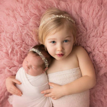 Baby Girl Pearl Headband Newborn Mohair Head Band Toddler Girls Boy Headwear Photography Props Hair Accessories Gift