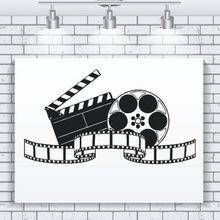 Vinyl Wall Decal Filming Art Movie Sticker Cinema Decoration Modern Design Film Wallpaper Show Murals AY924