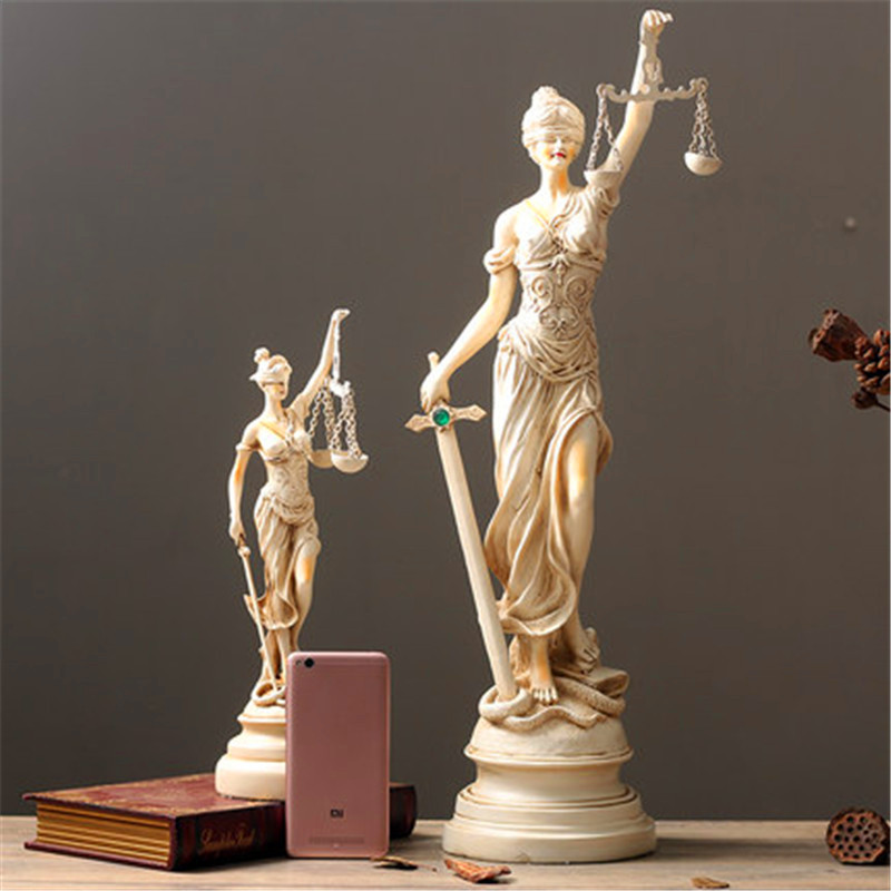 Greek Mythology Lady Justice Themis European Style Figure Statue Resin Art Craft Home Furnishing Articles G1443 greek mythology goddess aphrodite figurine hephaistos gypsum statue resin art