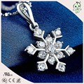 Good Quality Nice Snowflake Design 925 Sterling Silver Girl's Pendant