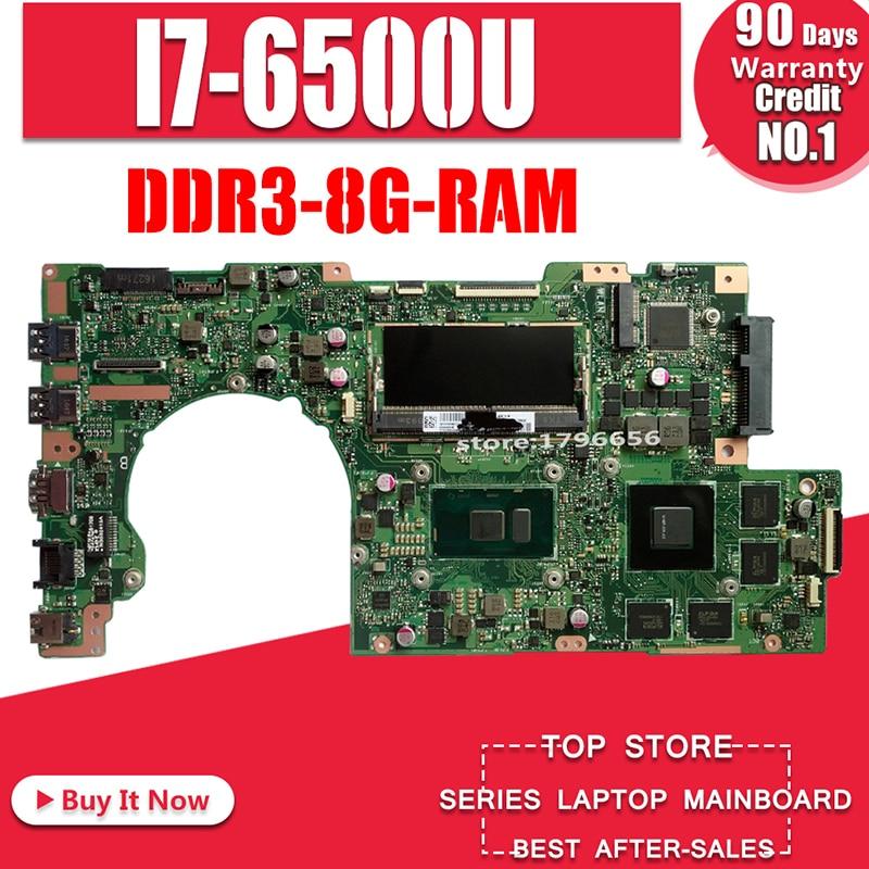 Laptop motherboard for ASUS K501UW K501UWK K501UXM K501UX K501UB  Test original mainboard  GTX940M DDR3-8G-RAM I7-6500ULaptop motherboard for ASUS K501UW K501UWK K501UXM K501UX K501UB  Test original mainboard  GTX940M DDR3-8G-RAM I7-6500U