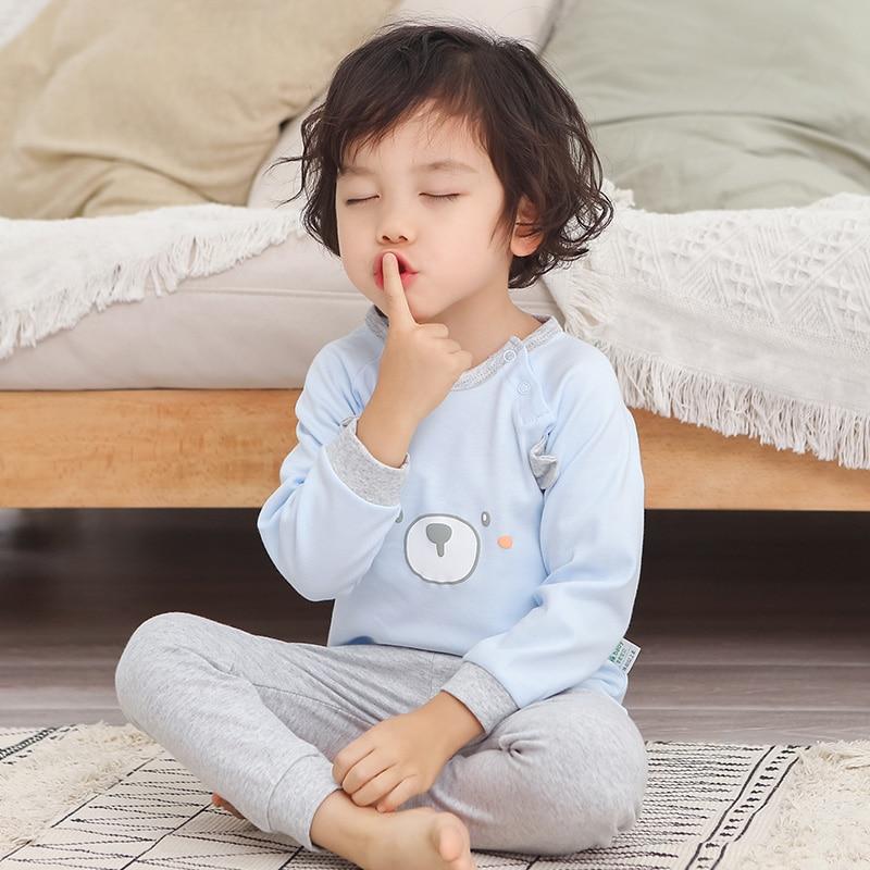 2pcs/set Children's Pajamas For Girls Pijamas Infantil Cotton Sleepwear Kids Baby Pajamas Set For Boys Underwear Clothing Suits