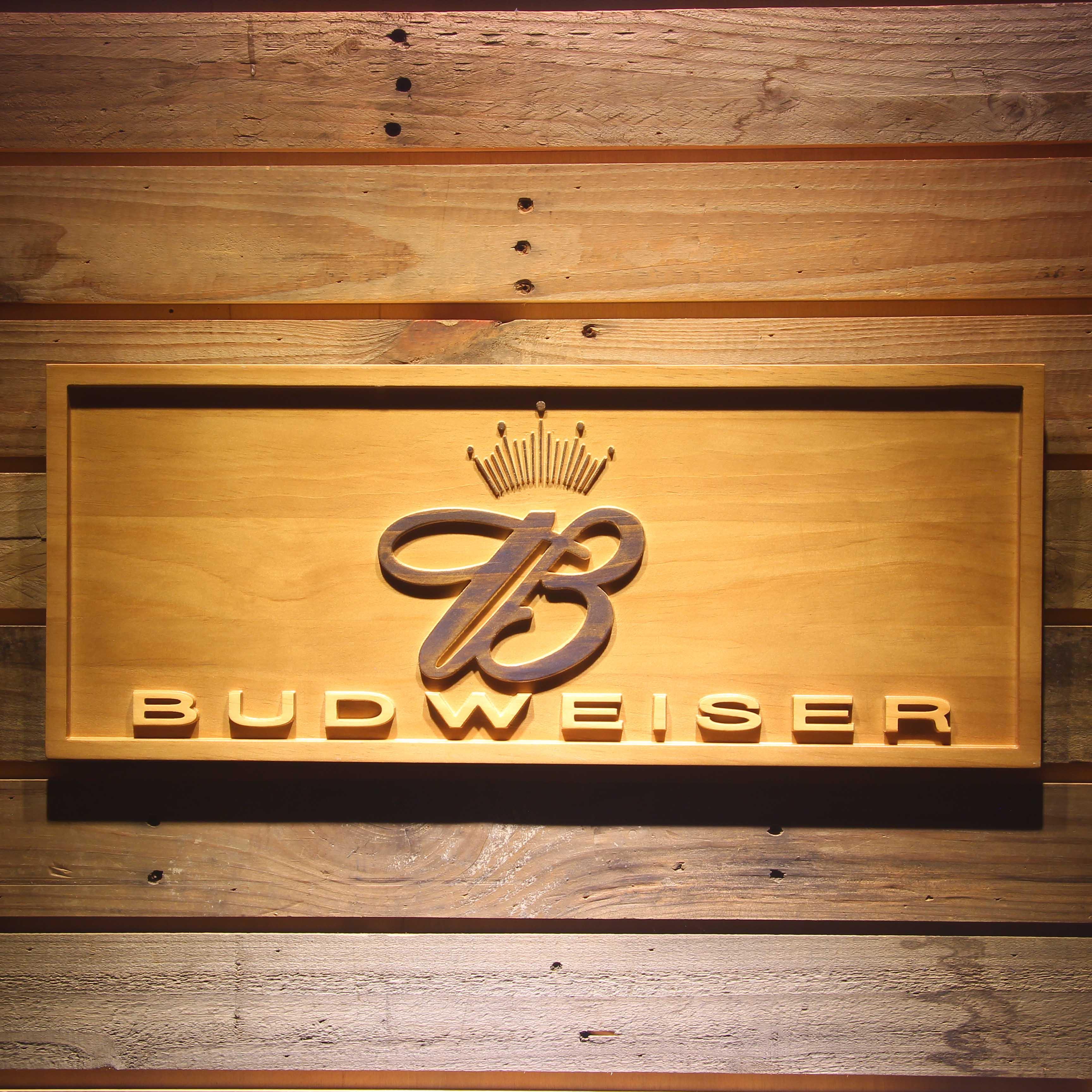 Budweiser König Bier 3D Holz Zeichen in Budweiser König Bier 3D Holz ...