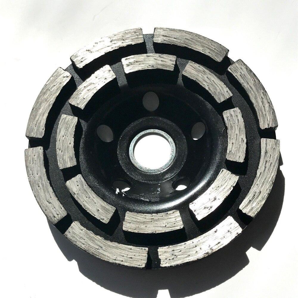 SPEDIZIONE GRATUITA 1pc mola pressata a freddo 100 * 20 * 5mm ruota a tazza a doppia fila per macinare marmo / granito / ceramica / cemento