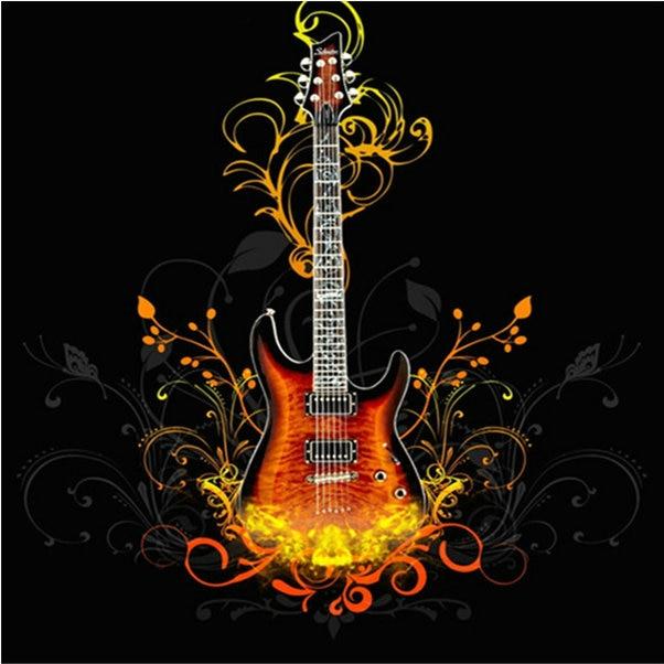 5d Diamond Embroidery Guitar Pattern Full Resin Diamond Mosaic Picture Flower Home Decor Diy Diamond Painting Cross Stitch Kits
