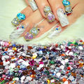2000pcs Nail Art Mixed Shape Rhinestones Acrylic Decoration Flat Back Gems NA189