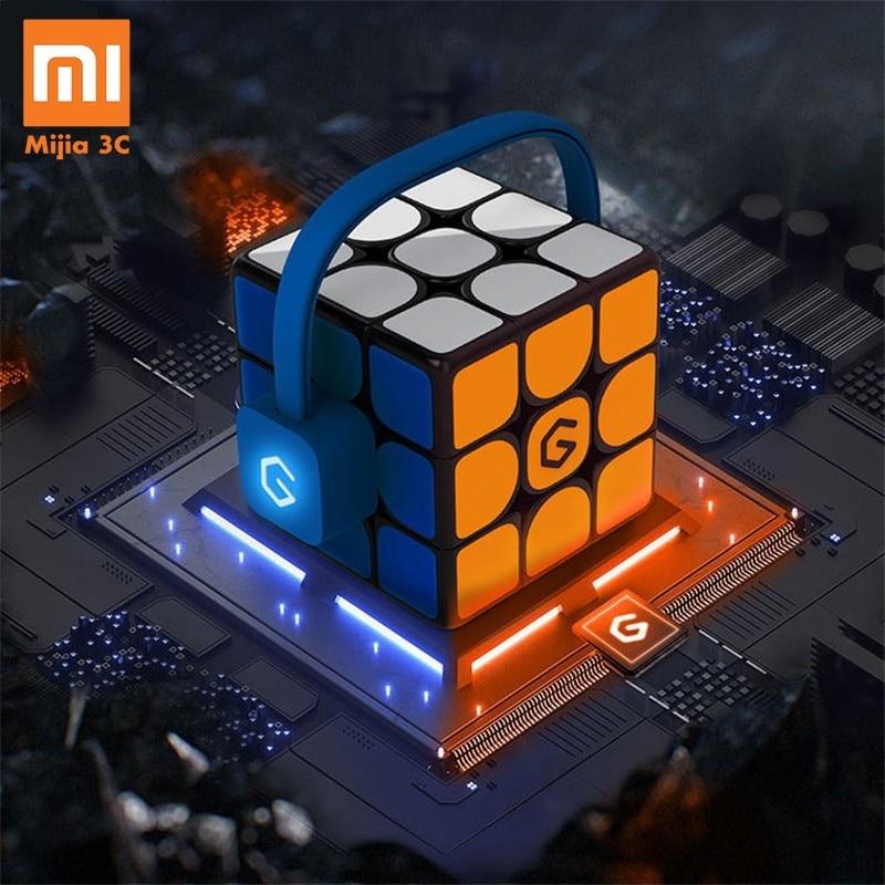 Original Xiaomi Mijia Giiker I3s AI Inteligente Super Cubo Mágico Inteligente APP Bluetooth Sync Magnético Enigma Brinquedos [Update Versão]