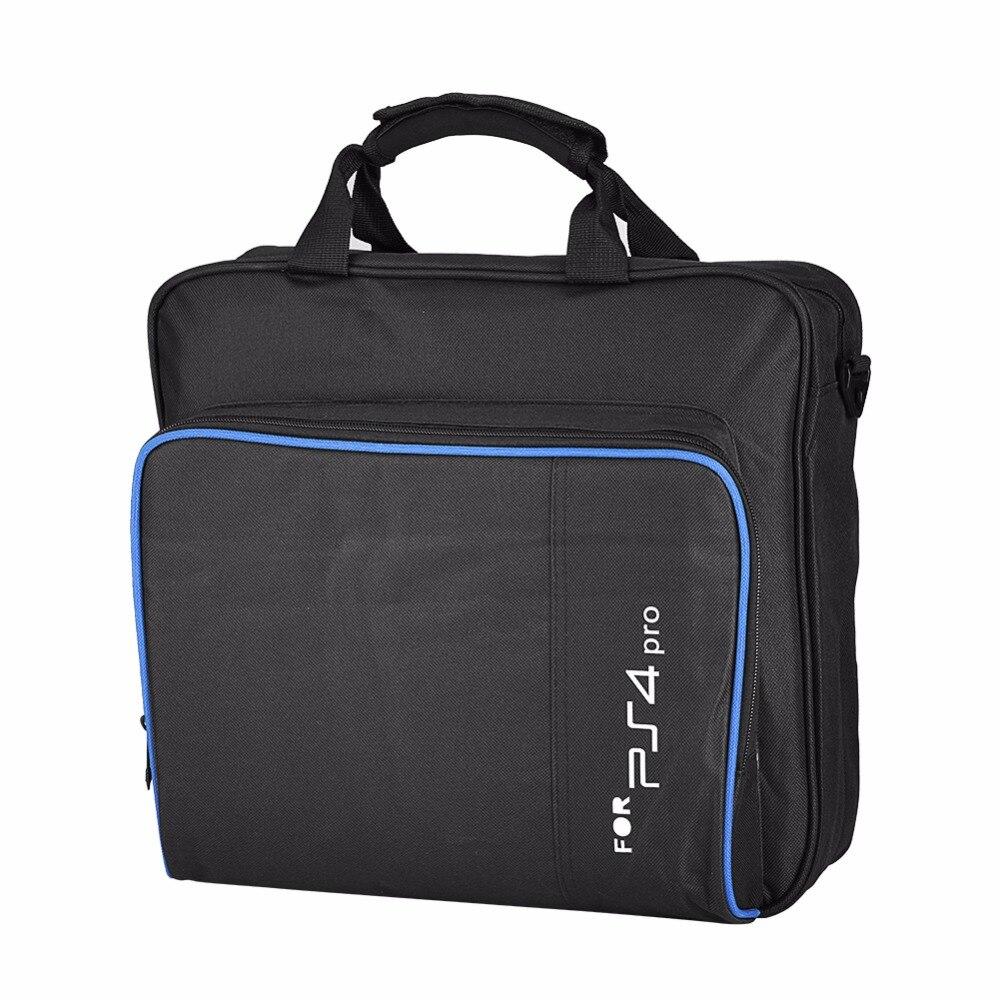 Portable for PS4 Pro Game System Shoulder Bag Travel Carrying Storage Case Black Color