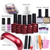 Nail Art Manicure Toos 9WLED Lamp 5 Color 10ml Soak Off Gel Nail Base Gel Top