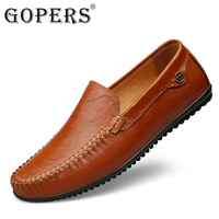 GOPERS Brand Fashion Autumn New Business Casual Cow Leather Men Shoes Soft Ventilation High Quality Men's footwear Big Size