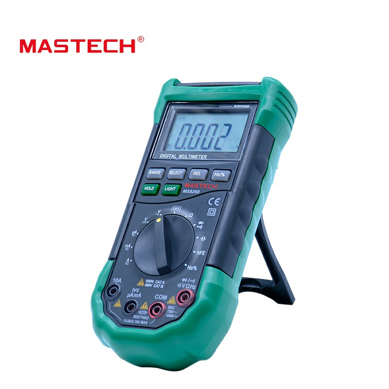 Auto Digital MS8268 Electrical Frequency Tester Detector Multimeter Ohm Voltmeter Protection Ac MASTECH Range Dc Ammeter Diode