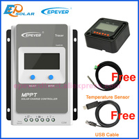 EPEVER Tracer 3210AN EPsloar 30A MPPT Solar Charge Controller 12v 24v auto work max PV 100V input with USB Communication Cable
