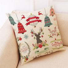 Christmas Home Decor Cushion Cover Throw Pillowcase Pillow Covers Print Pillow Case Polyester Sofa Car Cushion Cover Home Decor(China)