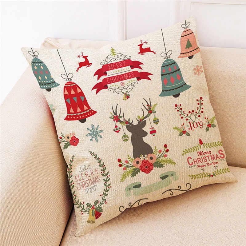 Kerst Home Decor Kussenhoes Gooi Kussensloop Kussenslopen Afdrukken Kussensloop Polyester Sofa Auto Kussen Cover Home Decor