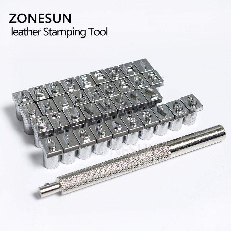 Инструменты ZONESUN, инструмент для печати букв, заглавные буквы, 26 алфавит, сделай сам, кожа, штампы, рабочее седло 3,5-6,5 мм