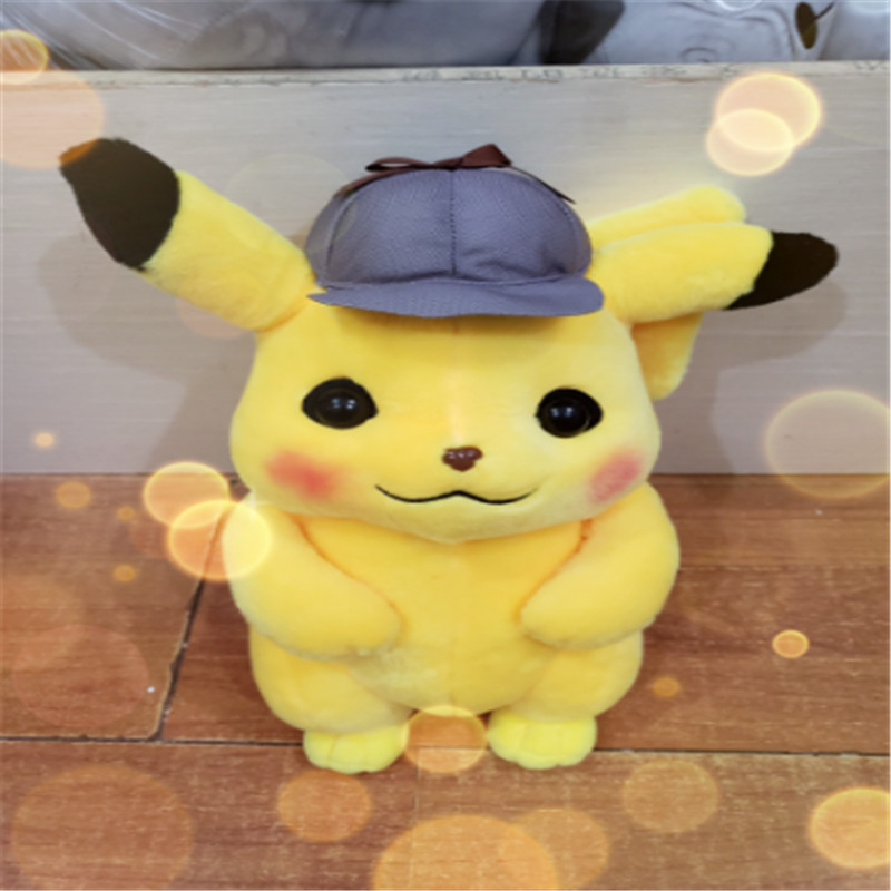 Image 5 - 2019 new 25/30/35cm Detective Pikachu Plush Toy High Quality Cute Anime Plush Toys Childrens Gift Toy Kids Cartoon Peluche-in Stuffed & Plush Animals from Toys & Hobbies