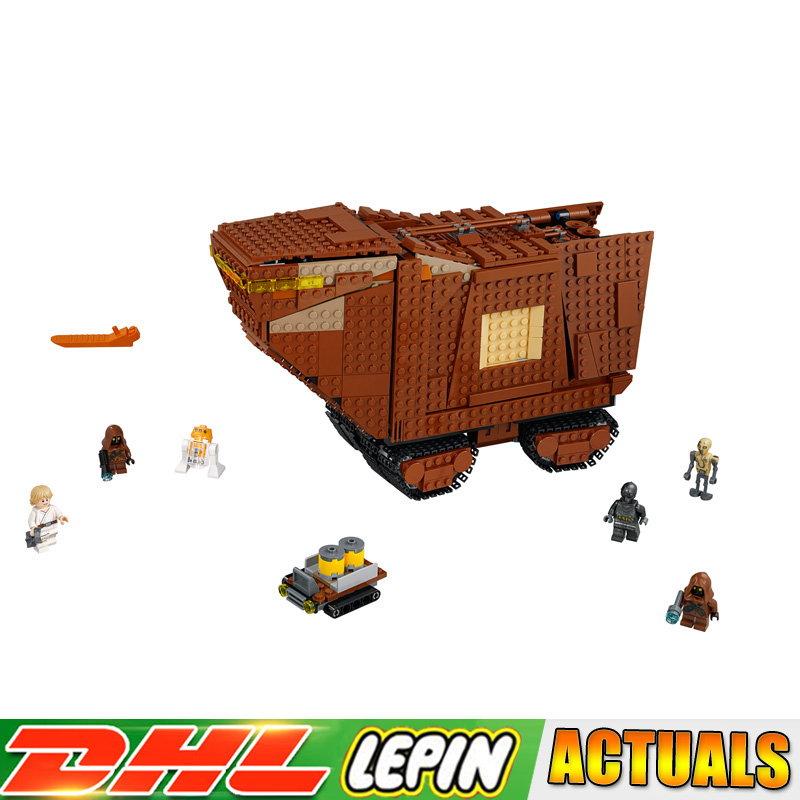 Lepin 05146 Star War Sandcrawler Building Blocks Bricks Educational Toys for Children Christmas Gifts Compatible Legoings 75220 new 543pcs lepin 05048 star war seiers the tie striker building blocks bricks educational funny toys compatible with 75154 gifts