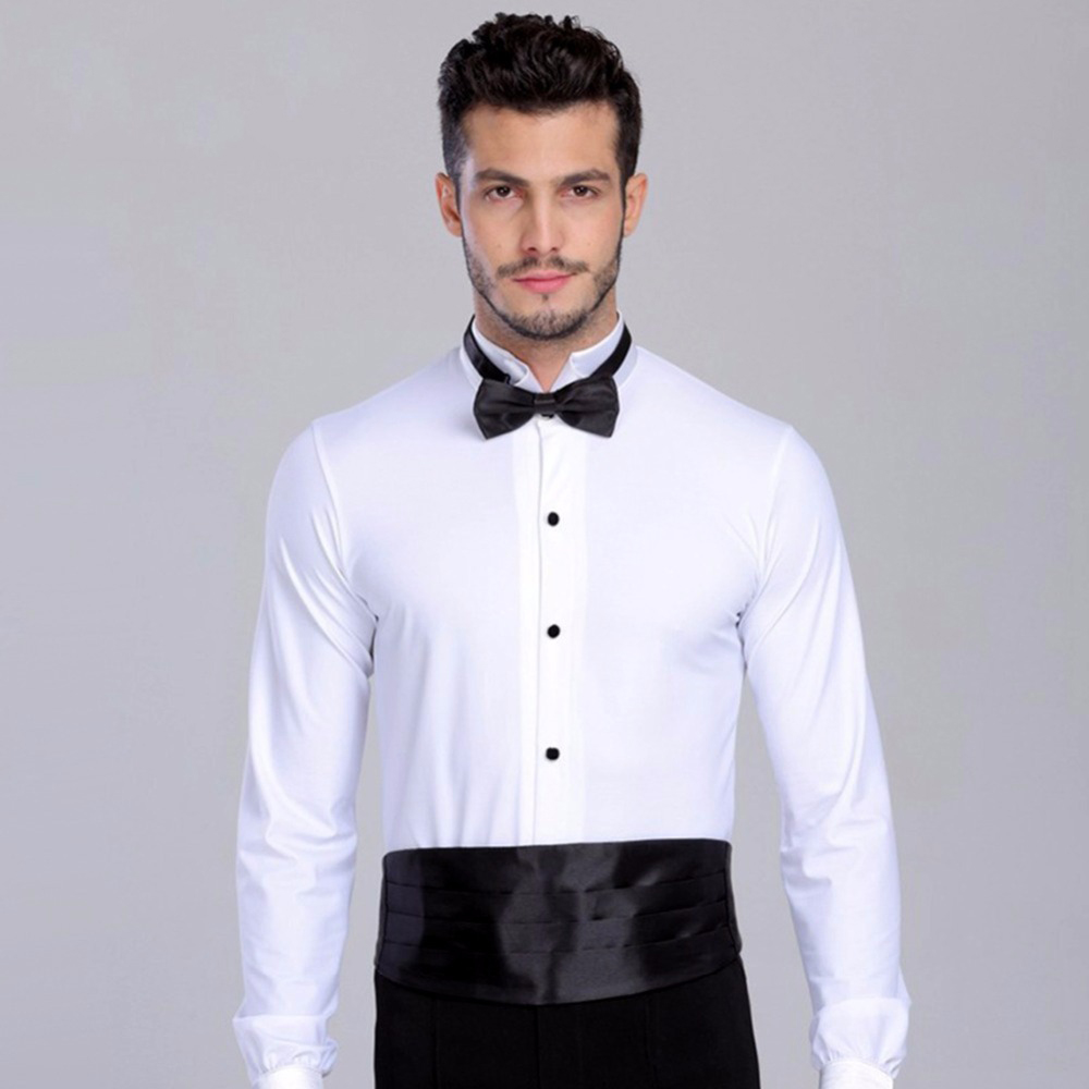 2018 New Arrival Ballroom Dancing Man Ballroom Dance Tops Mens Ballroom Shirts Latin/Tango/Rumba Dancewear Shirt Top DQ6032