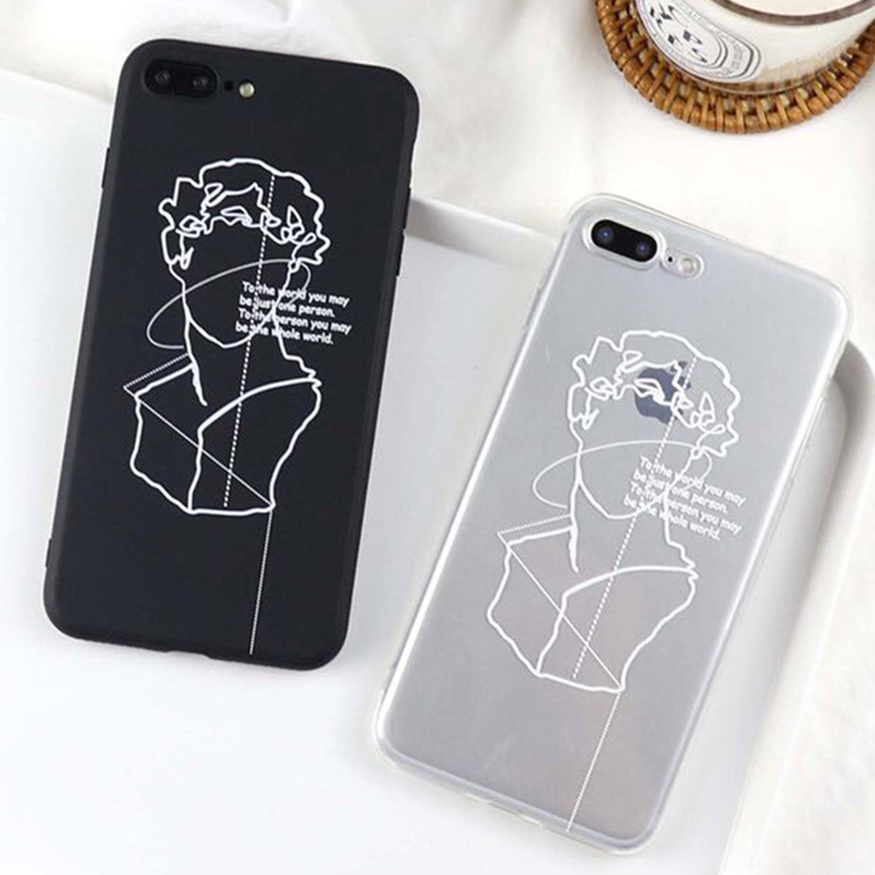 LOVECOM Phone Case For iPhone 5 5S SE 6 6S 7 8 Plus X Fashion David character avatar Back Cover Soft TPU Cases Hot Sale ...