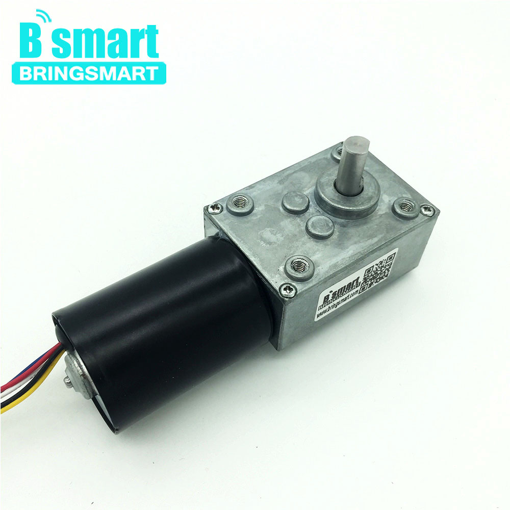 Bringsmart 5840-3650 Brushless DC Worm Gear Motor Reversible Gearbox Engine Motor Self-locking Brake Micro Turbine Worm Reducer wholesale 5840 3650 brushless dc motor worm gear motor with 24v brushless motor for reversible 12 volt gear motor