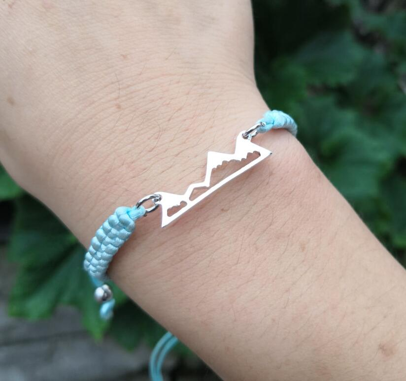 de00217a4a95c SanLan 1pcs MOUNTAIN LOVE Friendship Bracelet with Mountain Charm