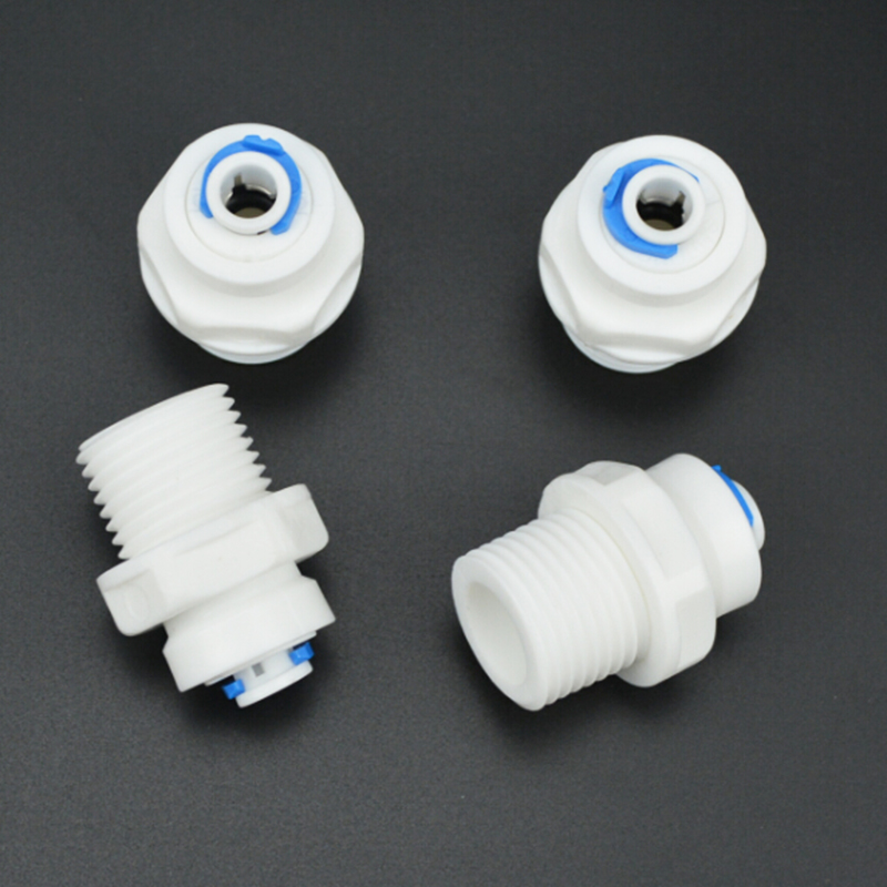 4pcs Newest Thread 1/2 inch Outside the Wire Turn 1/4 inch Quick Connect for RO Water Reverse Osmosis System Filtre 1/4 Pouces 2 pcs water filter parts 1 4 tank ball valve for tube quick connect switch water purifier ro reverse osmosis system