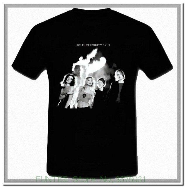 12580110 Women's Tee Hole Celebrity Skin Grunge Band Courtney Love Black T-shirt S M  L Xl 2xl 3xl Female Natural Cotton