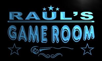 x0211-tm Rauls Karaoke Game Room Bar Custom Personalized Name Neon Sign Wholesale Dropshipping On/Off Switch 7 Colors DHL