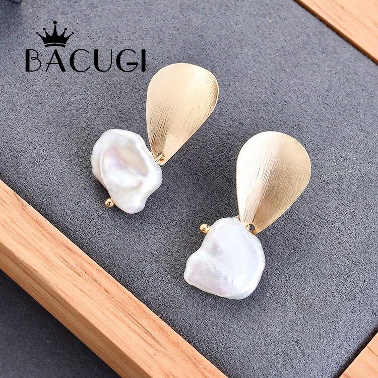 2019 Neue Echt 925 Sterling Silber Natürliche Perle Kreative Handgemachte Feine Schmuck Wasser Tropfen Baumeln Ohrringe Für Frauen