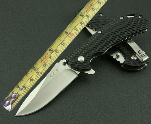 ZT Zero Tolerance Folding font b Knife b font 5Cr13Mov Wire Drawing Blade Pocket Survival Knifes