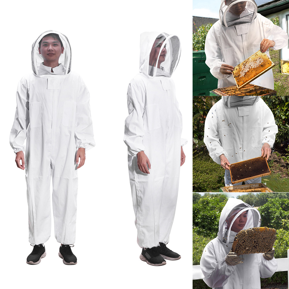 Beekeepers Full Body Clothing Professional Bee Protection Beekeeping Suit Safty Veil Hat Dress All Body Garden EquipmentBeekeepers Full Body Clothing Professional Bee Protection Beekeeping Suit Safty Veil Hat Dress All Body Garden Equipment