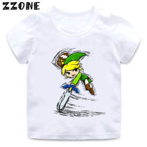 T-Shirt Kids Legend Zelda Boys/girls Children Cartoon Print The of Link Triforce Dabbing