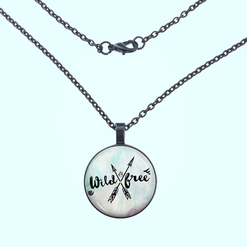 YSDLJG Wild Free Friendship Cabochon Charm Pendant Necklace Jewelry Birthday Gift High Quality Necklaces Jewelry in Pendant Necklaces from Jewelry Accessories