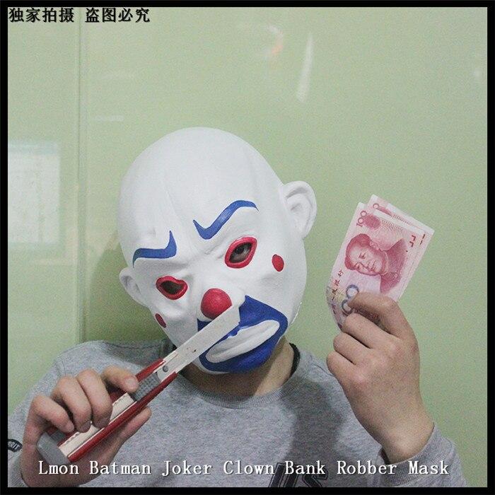 NEW Arrival Halloween Party Cosplay Movie Theme Resin Batman Joker Clown Mask Robbers Heath Ledger Masks Halloween Party Props