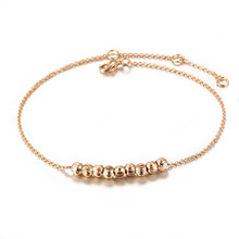 Fashion Women Simple Style Metal Beads Anklets Chain Sandals Summer Beach Casual Foot Jewelry KQS8