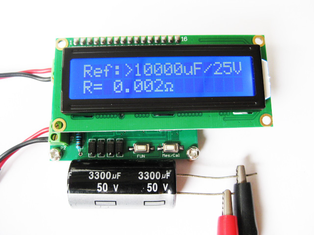 Capacitance on line tester ESR tester ESR Table + milli ohm table цена и фото