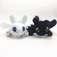 35cm Toothless light Fury Dragon 3 Toys Anime Figure Night Plush Doll For Children Kids