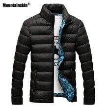 Mountainskin hombres chaqueta de invierno 2018 marca Casual Mens chaquetas y abrigos Parka hombres Outwear 4XL chaqueta ropa masculina, EDA104