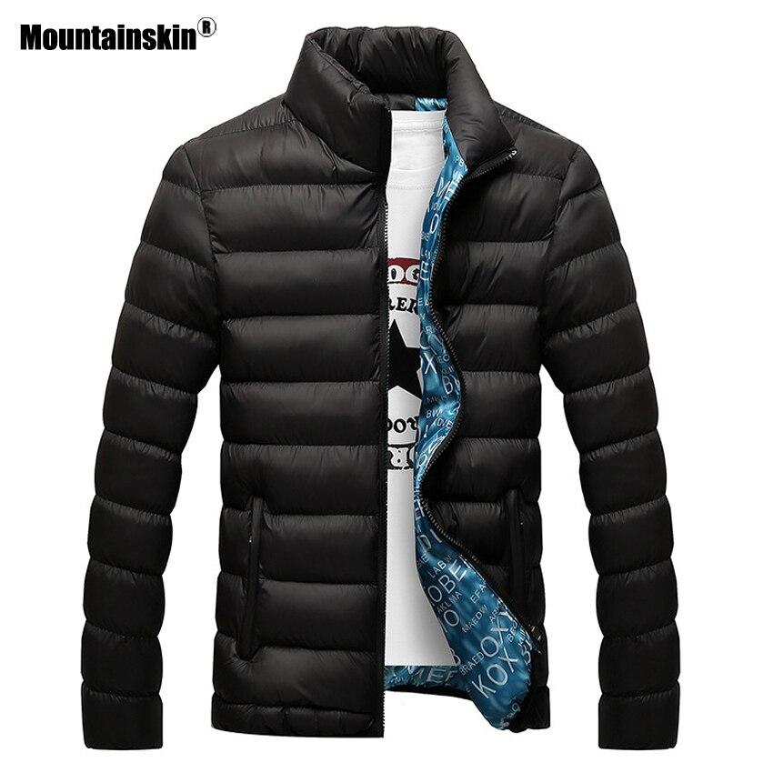 Mountainskin invierno chaqueta de los hombres, 2018 de marca Casual para hombre chaquetas y abrigos chaquetas y cazadoras gruesa Parka hombres Outwear 4XL chaqueta ropa EDA104
