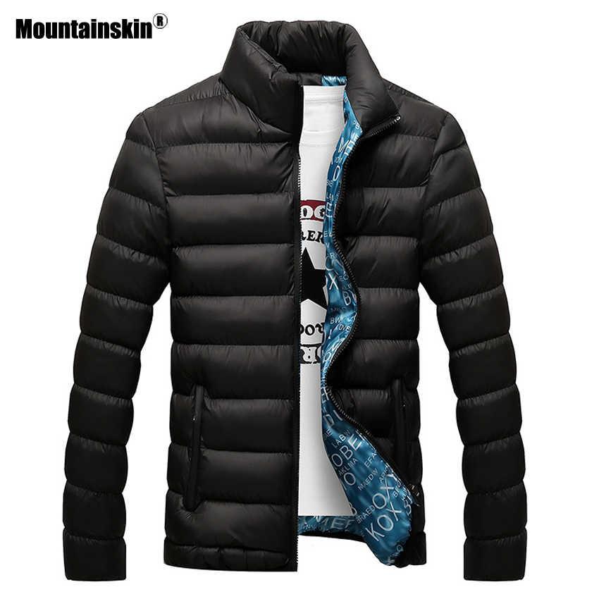 Мужская куртка Mountainskin, повседневная черная утепленная куртка, верхняя одежда, размеры до 6XL, зима 2019